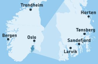 Map Visitvestfoldcom - Norway map sandefjord